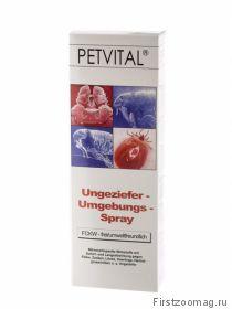 Petvital Ungeziefer-Umgebungsspray  Петвиталь Спрей против паразитов для обработки помещений, лежанок, подстилок, домиков и т.п.  500 мл.